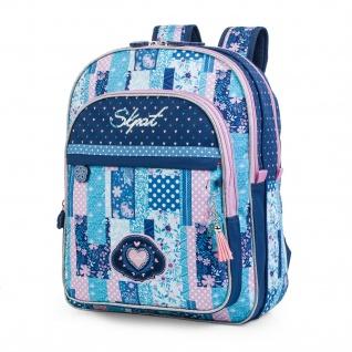 SKPAT Rucksack Für Schüler Oder Reisen Backpack Blautöne 130001