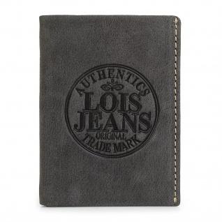 Lois Brieftasche Für Herren Leder Scheintasche Geldtasche Kartenhalter 12318 - Vorschau 4