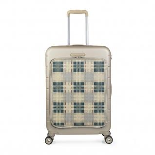 V&L Hartschale Reisekoffer 66 Cm ABS +Polyester/EVA Handgepäck 4 Räder TSA Hängeschloss Vordertasche Für Laptop 56260 - Vorschau 5