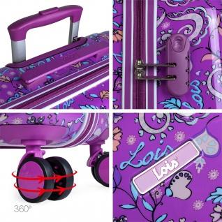 Lois 2Er Hartschalen Kinderkoffer Set Kaschmir Design Reisegepäck Kindertrolley 130200 - Vorschau 5