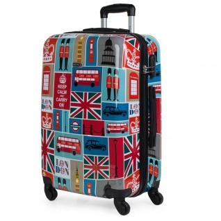 Itaca Hartschale Reisekoffer 64Cm Bedrucktes-London Polykarbonat 4 Rollen Reisegepäck Koffer 702160