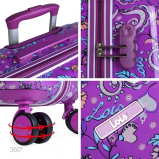 Lois Hartschale Kinderkoffer 55 Cm Bedrucktes Kaschmir Design Handgepäck 130250 - Vorschau 5