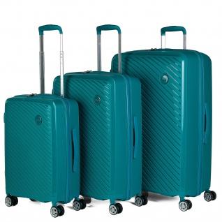 Itaca 3Er Hartschalen Kofferset, Polypropylen. 4 Rollen. Reisekoffer. Hängeschloss TSA. Kleine Koffer, Mittlere Und Große. 760000