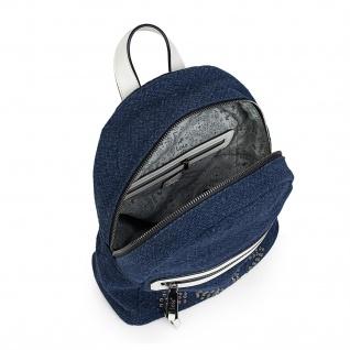 Lois Lässiges Rucksack Für Damen Leinen Und Kunstleder PU Tragetasche Backpack 301099 - Vorschau 5