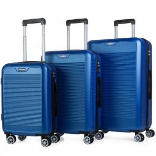 Itaca 3Er Hartschalen Kofferset 55/67/76 Cm ABS. 4 Rollen. Robuster Und Leichter. Reisekoffer. Kleine Koffer, Mittlere Und Große. T72000