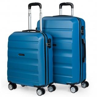 Itaca 2Er Hartschalen Kofferset 50/60 Cm ABS. 4 Rollen. Robuster Und Leichter. Reisekoffer. 2 Große: Kabine Und Mittlere Koffer. T71615