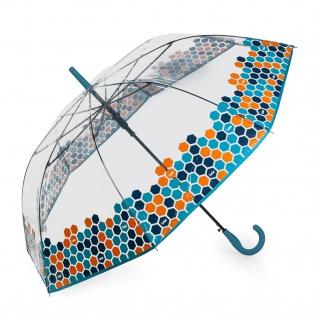 Klassischer Clear Print Regenschirm. Automatische Öffnung. 8 Stäbe. Winddicht. Gebogener Handgriff. Verstärkte Struktur. Widerstandsfähig, Leicht Und Elegant. 13109