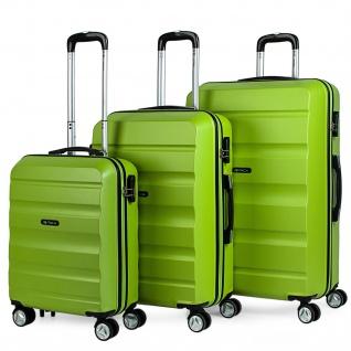 Itaca 3Er Hartschalen Kofferset 55/65/75 Cm ABS. 4 Rollen. Robuster Und Leichter. Reisekoffer. Kleine Koffer Genehmigt Für Ryanair, Mittlere Und Große. T71600