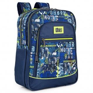 Rucksack Für Jungen Mit Doppelter Abteilung, Fronttasche, Ergonomischen, Gepolsterten Und Verstellbaren Riemen, Obergriff Und Patronengurten 131701