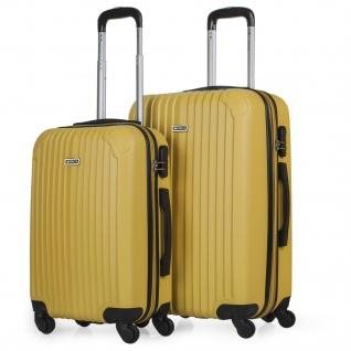 Itaca 2Er Hartschalen Kofferset ABS. 4 Rollen. Reisekoffer. Robuster Und Leichter. 2 Große: Kabine Und Mittlere Koffer. T71515
