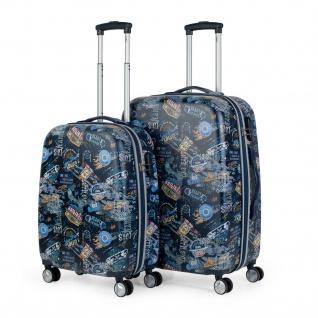 Lois 2Er Hartschalen Kinderkoffer Set ABS Klein- Und Mitllere Koffer Kindertrolley 130100