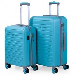 2Er Hartschalen Kofferset, ABS. 4 Rollen. Praktisch, Bequem Und Leichter. USB-Anschluss In Der Kleinen Hängeschloss TSA. Klein Und Mittlere Koffer. 175015
