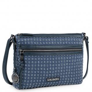 Damentasche Mit Verstellbarem Schulterriemen. Mit Reißverschluss. Zwei Außentaschen Mit Reißverschluss. Lässig. Leinwand Und Kunstleder 306649