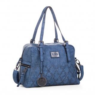 Lois Henkeltasche Für Damen Bowling Bag Handtasche Praktisch Für Jeden Tag Oder Einkaufen Mit Schlüsselbund 93931