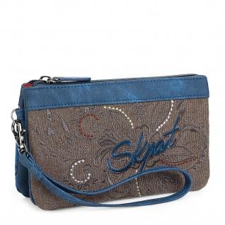 SKPAT Portmonnaie Für Damen Mit Handgriff Und Geldbeutel Brieftasche Denim Design 95619