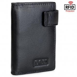 Lois Kartentasche Für Herren Geldbörse Mit Schnappverschluss Geldtasche Leder RFID-Schutz 201303