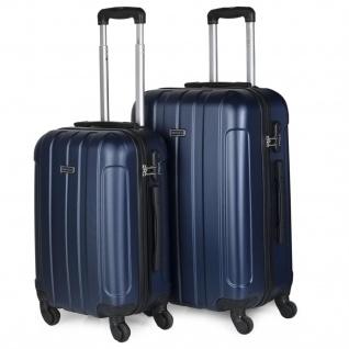 Itaca 2Er Hartschale Kofferset ABS. 4 Rollen. Reisekoffer. Reisegepäck. 2 Große: Kabine Und Mittlere Koffer 771115