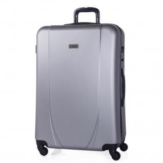 Itaca Großer XL Reisekoffer 75Cm ABS. 4 Rollen. Extrem Geräumig. Hartschale. Reisegepäck. Koffer. Hängeschloss. 71170