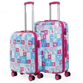 Itaca 2Er Hartschalen Kinder Kofferset Polycarbonat 4 Rollen Bedruckt Reisekoffer Koffer 702300