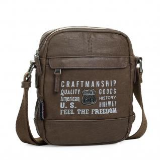 Umhängetasche. Messenger Schultertasche. Verschluss Und Verstellbarer Schulterriemen. 2 Außentaschen. R25719