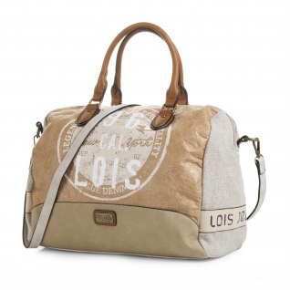 Lois Handtasche Für Damen Schultertasche Canvas Bowling Bag Praktisch Für Reisen Oder Einkaufen 92447