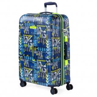 Mittlerer Koffer. 66 Cm. Bedrucktes Und Strukturiertes ABS. Starr, Widerstandsfähig Und Leicht. Teleskopstiel, 2 Einziehbare Griffe. 4 Doppelräder 131760