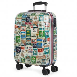 4-Rad-Trolley-Koffer 55X40x20 Cm Bedrucktes Polycarbonat. Handgepäck. Widerstandsfähig Und Leicht.