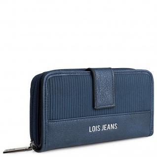 Lois Portmonaie Für Damen Geldtache Kartenhalter Brieftasche Geldkarte Geldbeutel RFID-Schutz 303716