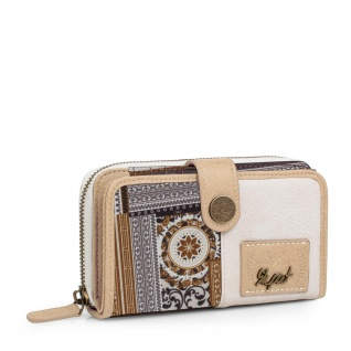 SKPAT Portmonnaie Für Damen Geldbeutel Brieftasche Geldtasche Münztasche 95416