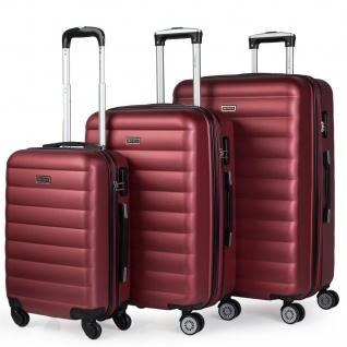 Itaca 3Er Hartschalen Kofferset 55/65/75 Cm ABS. 4 Rollen. Erweiterbar. Handgepäck. Reisekoffer. Reisegepäck. Koffer. 71200