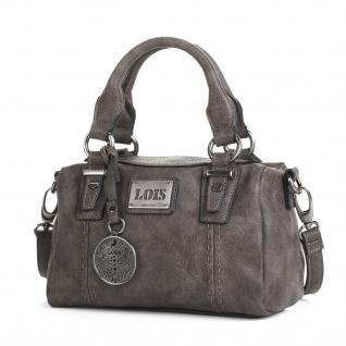 Lois Handtasche Für Damen Schultertasche Bowling Bag Geräumig Umhängetasche Einkauftasche 93031