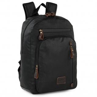 Laptop-Rucksack Für Männer Kleine, Lässige Mehrfachtaschen Bequem Und Strapazierfähig Für Den Täglichen Gebrauch Oder Auf Reisen Denim Canvas Leder Qualitätsdesign 307836