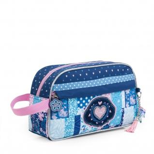 SKPAT Kulturtasche Für Mädchen Mit Handgriff Federtasche Patchwork Design 130013