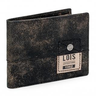 Loisbrieftasche Für Herren Portemonnaie Geldbörse Kartenhalter Echtleder Geldbörse Scheintasche 12501