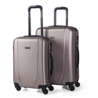 Itaca 2Er Hartschalen Kofferset 55/65Cm ABS. 4 Rollen. Reisekoffer. Handgepäck. Reisegepäck. 2 Große: Kabine Und Mittle Koffer. 71115