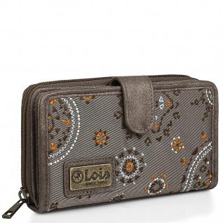 Brieftasche Für Frauen Bestickte Mit Kartenhalter Mit Mandala-Motiven. Canvas Und PU-Leder Für Den Täglichen Gebrauch Mit Reißverschluss RFID PROTECTION. 304416