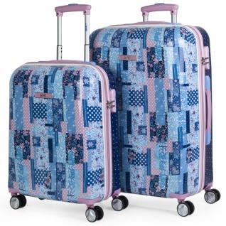 2Er Hartschalen Kinderkoffer Set Polycarbonat 4 Rollen Klein- Und Mitllere Koffer Reisegepäck Kindertrolley 130000