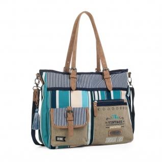 SKPAT Henkeltasche Für Damen Schultertasche Canvas Umhängetasche Handtasche Tasche 92947