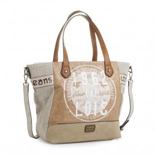Lois Henkeltasche Für Damen Schultertasche Canvas Einkauftasche Handtasche Shopping Bag 92441