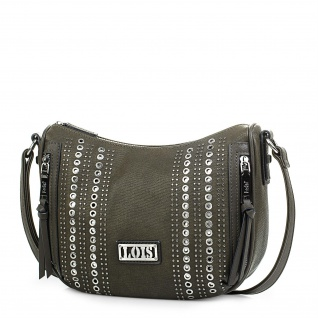 Lois Umhängetasche Für Damen Kunstleder PU Und Nieten Schultertasche Tasche Mini Bag 94456