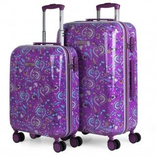 Lois 2Er Hartschalen Kinderkoffer Set Kaschmir Design Reisegepäck Kindertrolley 130200 - Vorschau 1