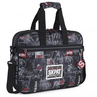 Laptop-Aktentasche 15, 6 Zoll. Junge. Stadtgestaltung, Skater-Graffiti. Widerstandsfähig, Praktisch Und Leicht 131606