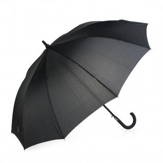 Großer Klassischer Regenschirm. Automatische Öffnung. 10 Stäbe. Anti Wind. Gebogener Griff. Verstärkte Struktur. Widerstandsfähiges Licht Und Eleganz. 13107