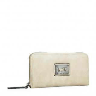 Lois Portmonnaie Für Damen Geldbeutel Brieftasche Kunstleder PU Geldtasche 92701
