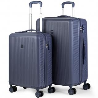 2Er Kofferset 54/67 Cm ABS. 4 Rollen. Steif, Widerstandsfähig Und Leicht. TSA Hängeschloss. Kleine Koffer Genehmigt Für Ryanair, Mittlere Und Große. 171015