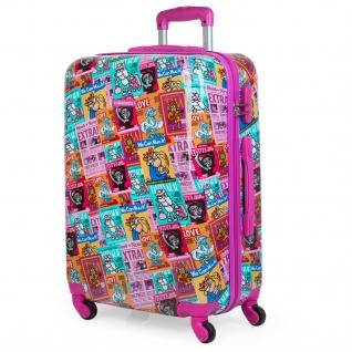 Kinderkoffer Reisetasche Für Jugendliche. Rigide. 4 Räder. 65 Cm Medium. Von Polycarbonat Druck.