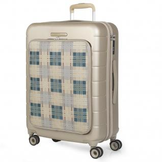 V&L Hartschale Reisekoffer 66 Cm ABS +Polyester/EVA Handgepäck 4 Räder TSA Hängeschloss Vordertasche Für Laptop 56260