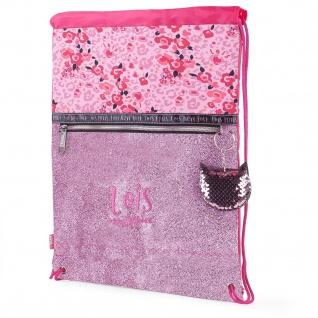 Rucksack Für Mädchen Mit Fronttasche. Geschnürte Schließung. Paillettenbesetztes Schlüsselanhänger-Geschenkset.Gymsack Leichtgewichtig Und Langlebig 131841