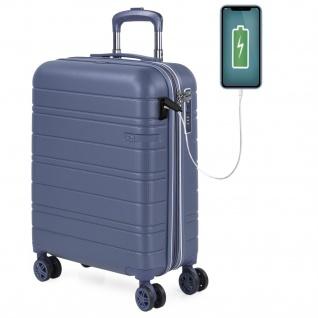 Kleiner Ausziehbarer Starrer Koffer Mit Rädern. USB-Anschluss 4-Rad-Wagen. Glattes ABS. Handgepäck. Hart, Bequem Und Leicht. TSA. Qualitätsstudentenwochenende 171250