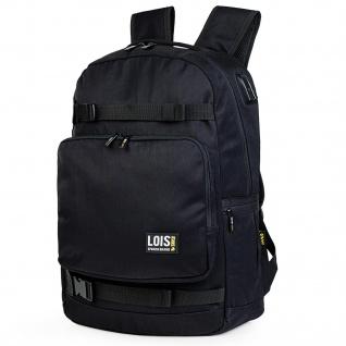 Lois. Lässiges Rucksack Für Herren. 15 Laptop. Messenger Backpack. USB. Tragetasche. Praktisch Und Bequem. Nylon. 305437